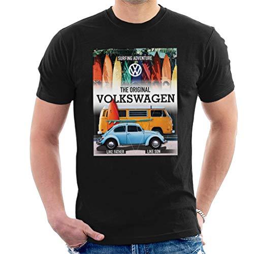 Volkswagen Surfing Adventure Beetle & Camper Men's T-Shirt
