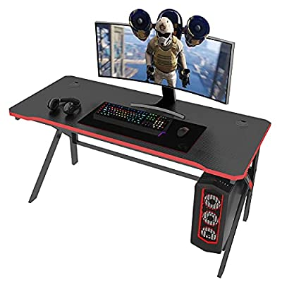 Amazon - 60% Off on Gaming Desk, 47 inch Computer Gaming Desk, K-Shaped PC Computer