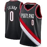 WEIZI Camiseta de Baloncesto Unisex Damian Lillard, Portland Trail Blazers 0# Ropa Deportiva, Malla sin Mangas Baloncesto Swingman Jersey Top Chalecos Uniforme