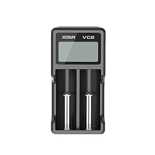 Xtar VC Serie VC2 VC2 Plus VC4 Batterieladegerät, USB, LCD-Display, lädt Li-Ionen- und Ni-MH-Akkus gleichzeitig VC2
