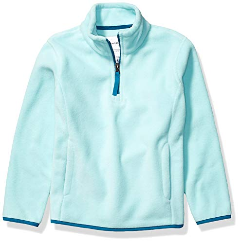 Amazon Essentials Quarter-Zip Polar Fleece Jacket Outerwear-Jackets, Agua (Aqua), XS