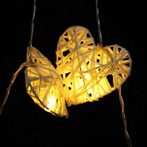 Fishawk 2.8 * 2.8In Luce Romantica in Rattan, Corda di Luce in Rattan Naturale pianta in Rattan, Lampada Decorativa in Rattan, per la Decorazione della casa