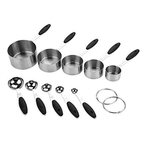 Maatlepels, 10st roestvrijstalen maatlepels kopjes bakken tools