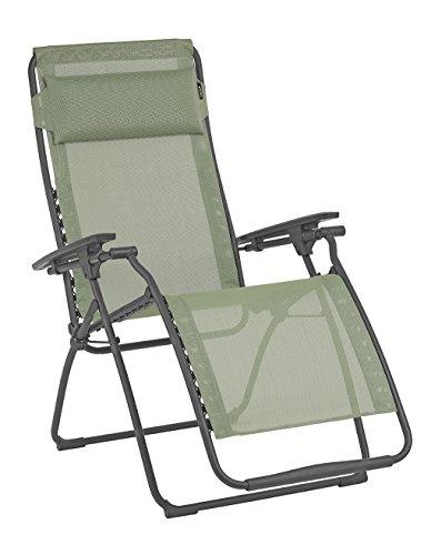 Lafuma Futura Zero Gravity Patio Recliner (Moss Green Batyline Canvas) Outdoor Folding Lounge Chair