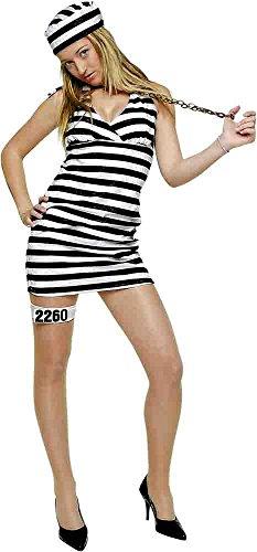 Disfraz de presidiaria sexy para adultos, Talla nica (Rubie's 603610)