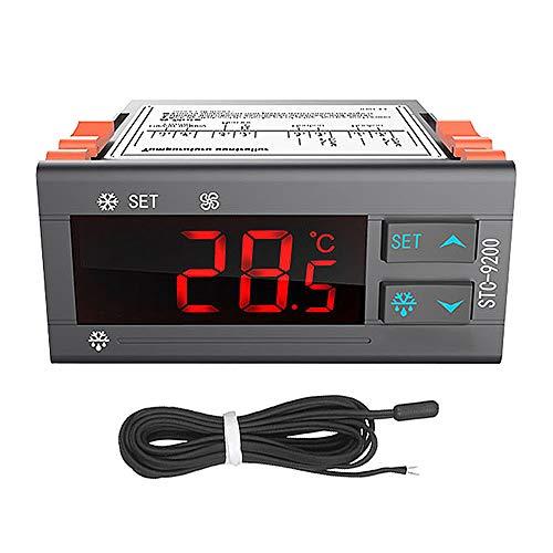 Huatuo STC-9200 Microordenador digital Controlador inteligente de temperatura Regulador del termostato Termorregulador con refrigeración Función de alarma del ventilador de descongelación