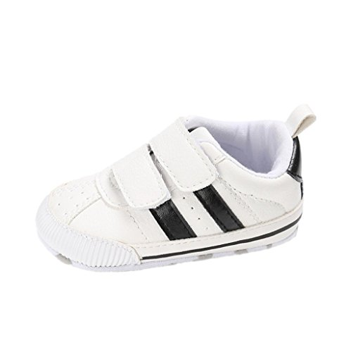 Zapatos de bebé Auxma Zapatillas de Deporte Infantiles Suaves del niño de Prewalker de Las Muchachas de los Muchachos de los bebés para 6-12 12-18 Mes (12cm/6-12 M, B)