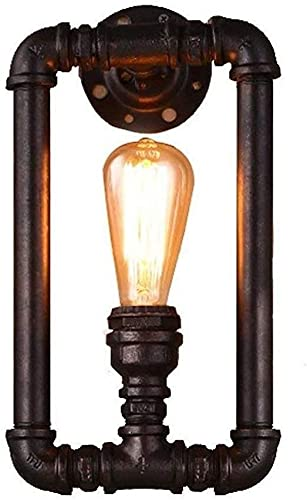 Raelf Luz de pared Industrial Luz de pared Vintage Retro Tubo Steampunk Lámpara de pared 18 * 35 cm Iluminación industrial Lámpara de pared Lámpara de pared Sconence Iluminación Lámpara de iluminación