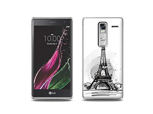 etuo Handyhülle für LG Zero - Hülle, Silikon, Gummi Schutzhülle - Eiffelturm