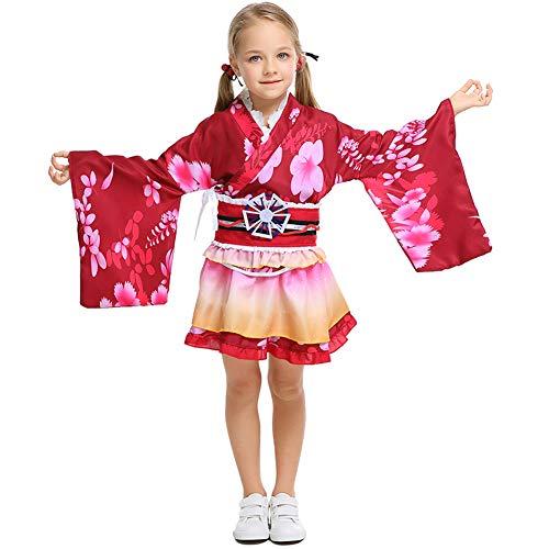 LOLANTA Disfraz de Kimono para niñas, Halloween, Cosplay