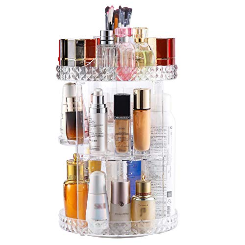 Makeup Organizer 360-Degree Rotating,Adjustable Makeup Storage,6 Layers Large Capacity Cosmetic Storage Unit,Fits Different Types of Cosmetics and Accessories