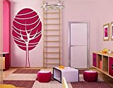 Style and Apply Lollipop Tree Wall Decal, Sticker, Mural Vinyl Art Home Decor, 24' x 48', Solid, Pastel Orange