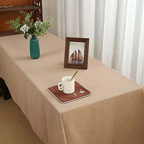 Abwaschbar hochwertig tischdecke luxus-tischdecke tischrock tischtücher (Color : Brown, Size : 130 * 180cm(70in))