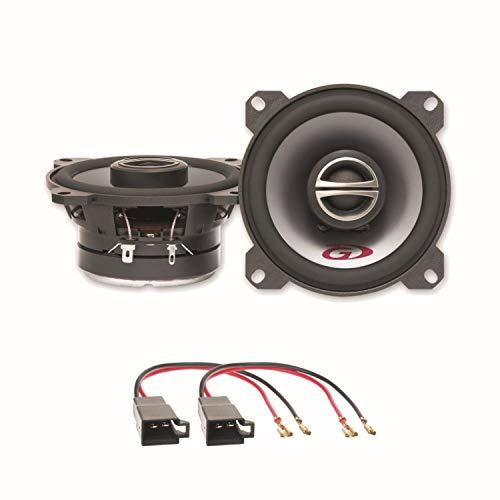 Lautsprecher Einbauset kompatibel mit VW T4 Alpine SPG-10C2 10 cm 2 Wege Koaxial Armaturenbrett vorne