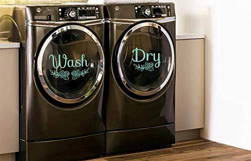 CELYCASY - Adhesivos para lavadoras y secadoras, decoración para lavadora, lavadora, lavadora, secadora, vinilo