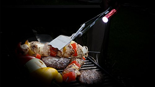 BBQCroc 3 in 1 21 inch Barbecue Tool with Clip-ON Flashlight - BBQ Croc