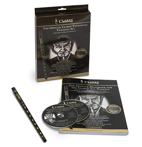 Set 'WTCD The New Original Tin Whistle Teaching' per imparare a suonare il Tin Whistle, include libro, CD e Tin whistle originale in chiave di Re (lingua italiana non garantita)