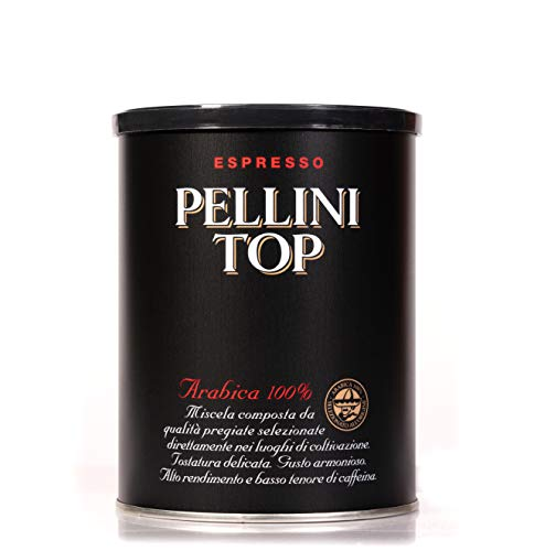 Pellini Caffè - Café molido para máquina - Espresso Pellini Top Arabica 100% - 1 Lata de 250 gr