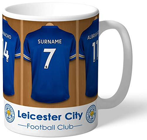 Leicester City FC Personalised Dressing Room Shirts Mug