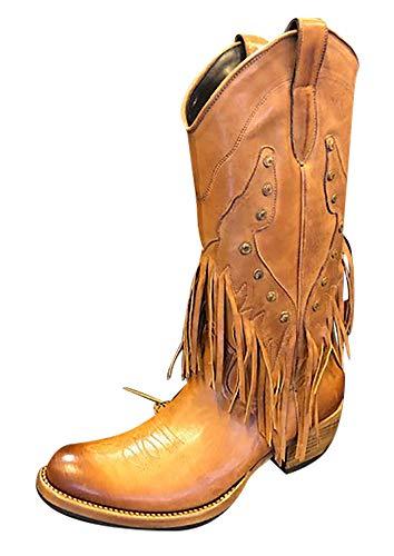 Sancho Boots Cowboydtiefel Westernstiefel 2315 Braun mit Fransen bereits besohlt (Numeric_39)