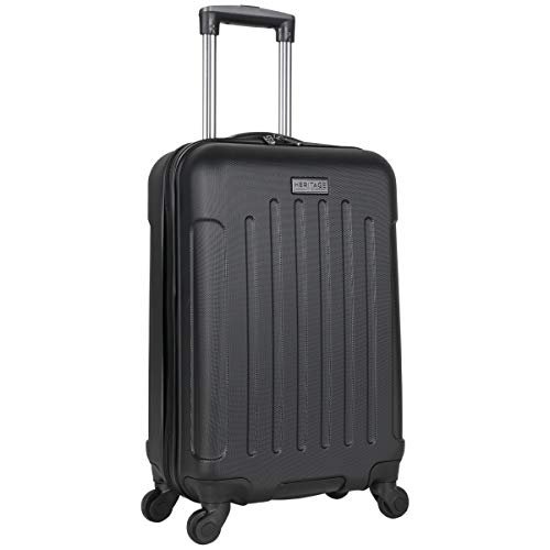 Heritage Travelware Lincoln Park 20' Hardside 4-Wheel Spinner Carry-on Luggage, Black