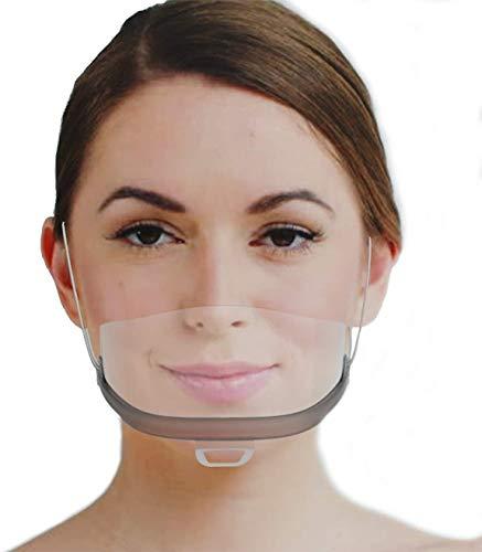 Tankaa 10 x Visera de plástico   Visera Protectora en Transparente   Visor Universal de protección Facial para Proteger contra líquidos líquidos Face Shield fuuml; r Boca Nariz