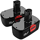 [Upgraded to 3.6Ah] 2 Pack Replace for Craftsman 19.2 Volt Battery C3 DieHard 130279005 130279003 130279017 315.115410 315.113753 315.11485 1302350211323903 1323517 120235021 11375 11376