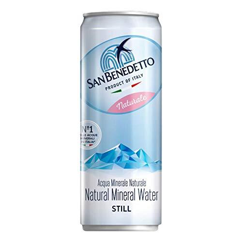Acqua Naturale San Benedetto in Lattina   24 Pezzi da 33 Cl   Plastic Free   Prodotto a Ridotto Impatto Ambientale