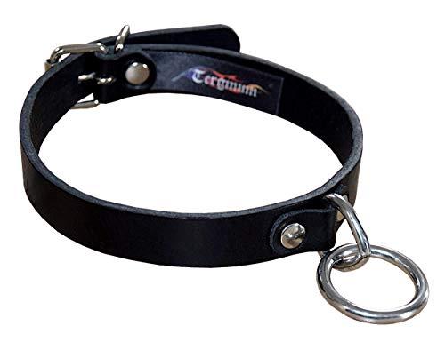 Bondagehalsband Lederhalsband Halsband Halsfessel mit Rundring und Triangel Breite: 20 mm / Maßanfertigung