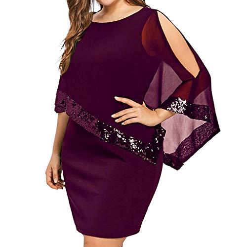 Damen Kleid Ärmellos Minikleid Chiffon Cocktailkleid Pailletten Pencil Partykleid Lässige Kleidung Abendkleid Frauenkleid Kleid für Frauen URIBAKY