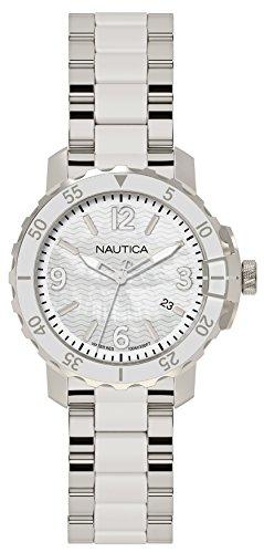 Nautica Damen Quarz Uhr mit Edelstahl Armband NAPCHG005