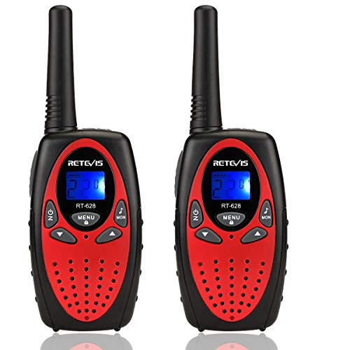 Retevis RT628 Walkie Talkies for Kids,22 Channel kids Walkie Talkies Toys,Long Range 2 Way Radio Gift for Boys and Girls Adventure Gear to Camping, Hiking,Games (Red, 2 Pack)