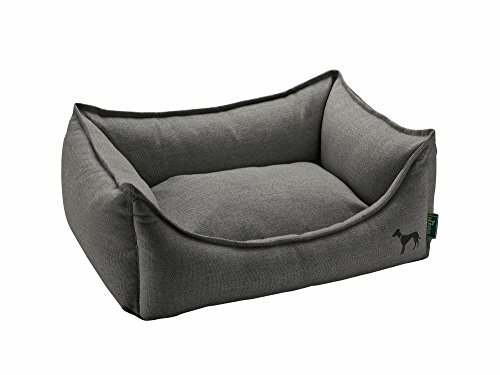 HUNTER Livingston Hundesofa, Hundebett, Strukturstoff, klassisch, L, anthrazit