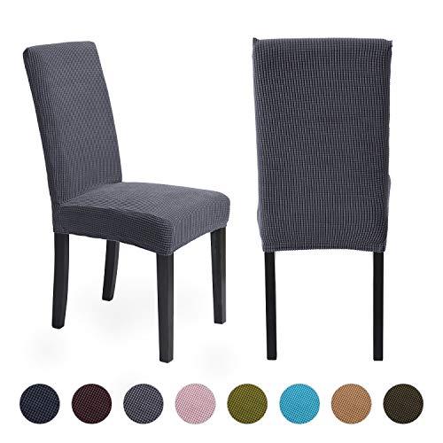 ManMengji Fundas para Sillas de Comedor Elásticas 2 Piezas, Fácil de Limpiar Desmontables Protectoras para sillas, para Hotel, Decor Restaurante, Boda Moderna