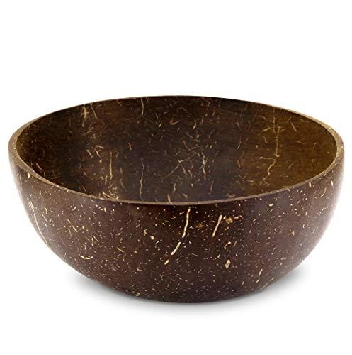 Cocovibes Coconut Smoothie - Cuenco de cereales, cuenco de coco decorativo, hecho a mano, natural, sostenible, juego de 1, 2 o 4