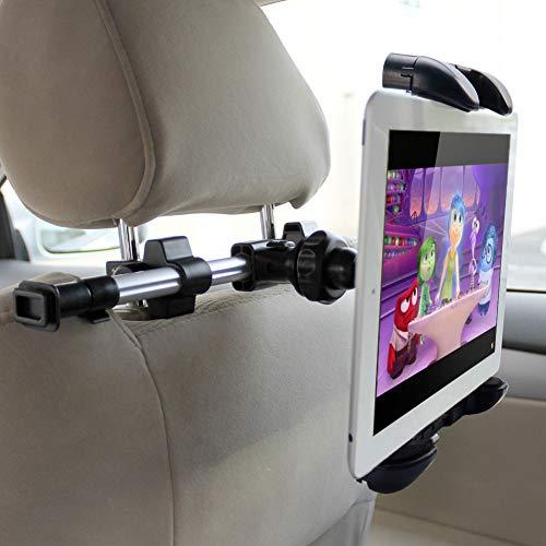 iKrossヘッドレスト取付式タブレット対応車載ホルダー7-12インチ後部座席スマホ車載ホルダー