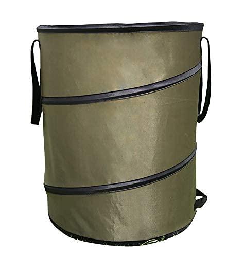 [CAMP本舗] アウトドア キャンプ トラッシュボックス ポップアップ ゴミ箱 薪入れ用カバン 37.8L コンパクト 薪入れ 落ち葉袋 収穫袋 ゴミ入れ ランドリーバスケット ケース ストーブ (Sサイズ)