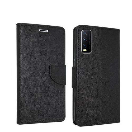 Erotic Flip Wallet Case Cover for Vivo Y20 - Black