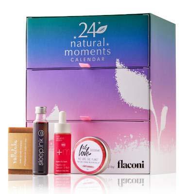 Flaconi Adventskalender 2020 Beauty Natural Moments für Frauen, Wert 300€ idealer Adventskalender für die Frau, Beautykalender, 24x Damen Kosmetik inkl. Pretio Beauty Spiegel