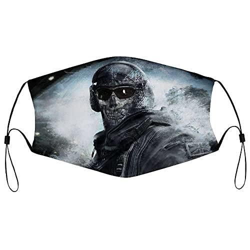 Best-design Ghost Call of Duty Máscara facial reutilizable pasamontañas lavable al aire libre nariz cubierta de moda para hombres y mujeres