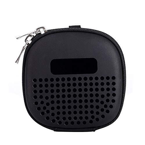 QLING Bose SoundLink Micro draagtas, draagbare schokbestendige reisopbergorganizer, beschermhoes met karabijnhaak voor Bose SoundLink Micro Bluetooth-luidspreker (zwart)