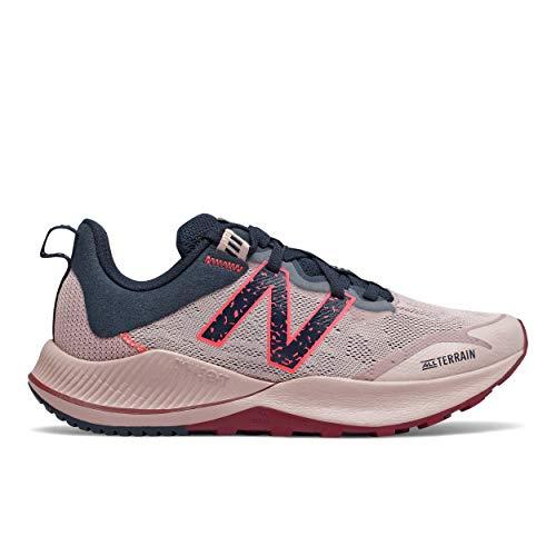 New Balance Women's Nitrel V4 Running Shoe, Saturn Pink/Natural Indigo, 9 M US