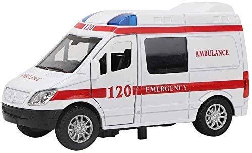 YLJJ Coches a Escala 1:32 Mini Simulación de aleación de Coches Ambulancia con el vehículo de Recogida de Regalos Modelo de Juguete Luz y Sonido para Dar los Regalos a su Familia o Amigos