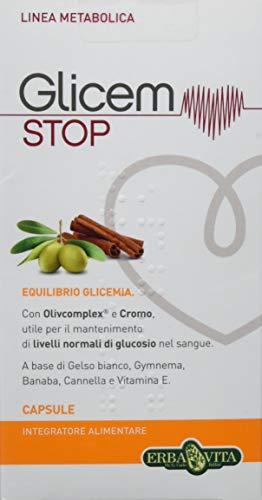 Erba Vita Integratore Alimentare Glicem Stop - 60 Capsule in Blister