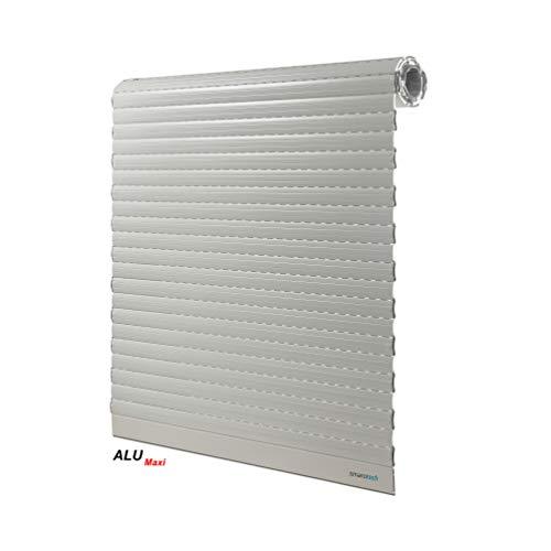 Rolgordijn Maxi 120 cm hoog van 54 x 14 mm aluminium lamellen van smarotech® Duitsland ALU Maxi weiß: 118cm Breite X 120cm Höhe wit