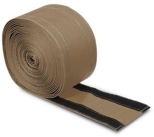 Electriduct SafCord - Tira de cable para alfombra de 7,6 cm para asegurar y ocultar cables y cables de piso - 100 pies - color gris...