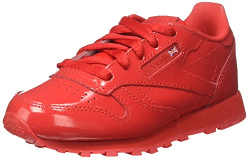 Reebok Jungen Classic Leather Patent Gymnastikschuhe, Rot (Rosso), 36.5 EU