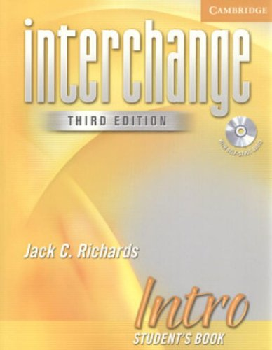 Interchange Intro 3rd Ed Student's Book with Audio CD [With CD]