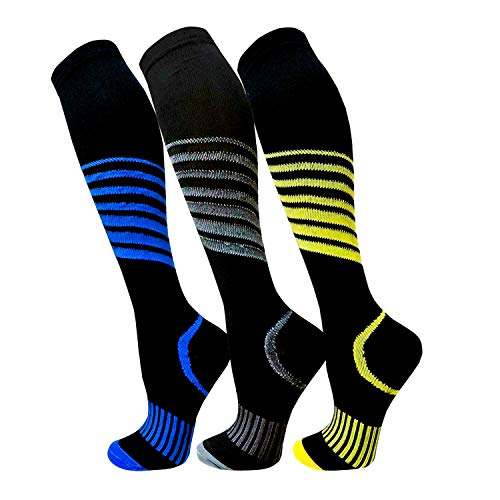 Compression Socks for Men & Women(3 Pairs),15-20mmHg is Best Stockings for...