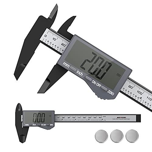 Digital Caliper, Meterk 6 Inch Micrometer Digital Caliper Measuring Tool with Large LCD Screen, Inch...